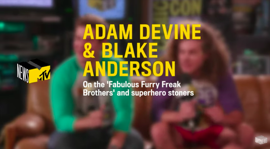 NEWS - Adam DeVine & Blake Anderson Talk 'Fabulous Furry Freak Brothers' & Superhero Stoners | MTV News