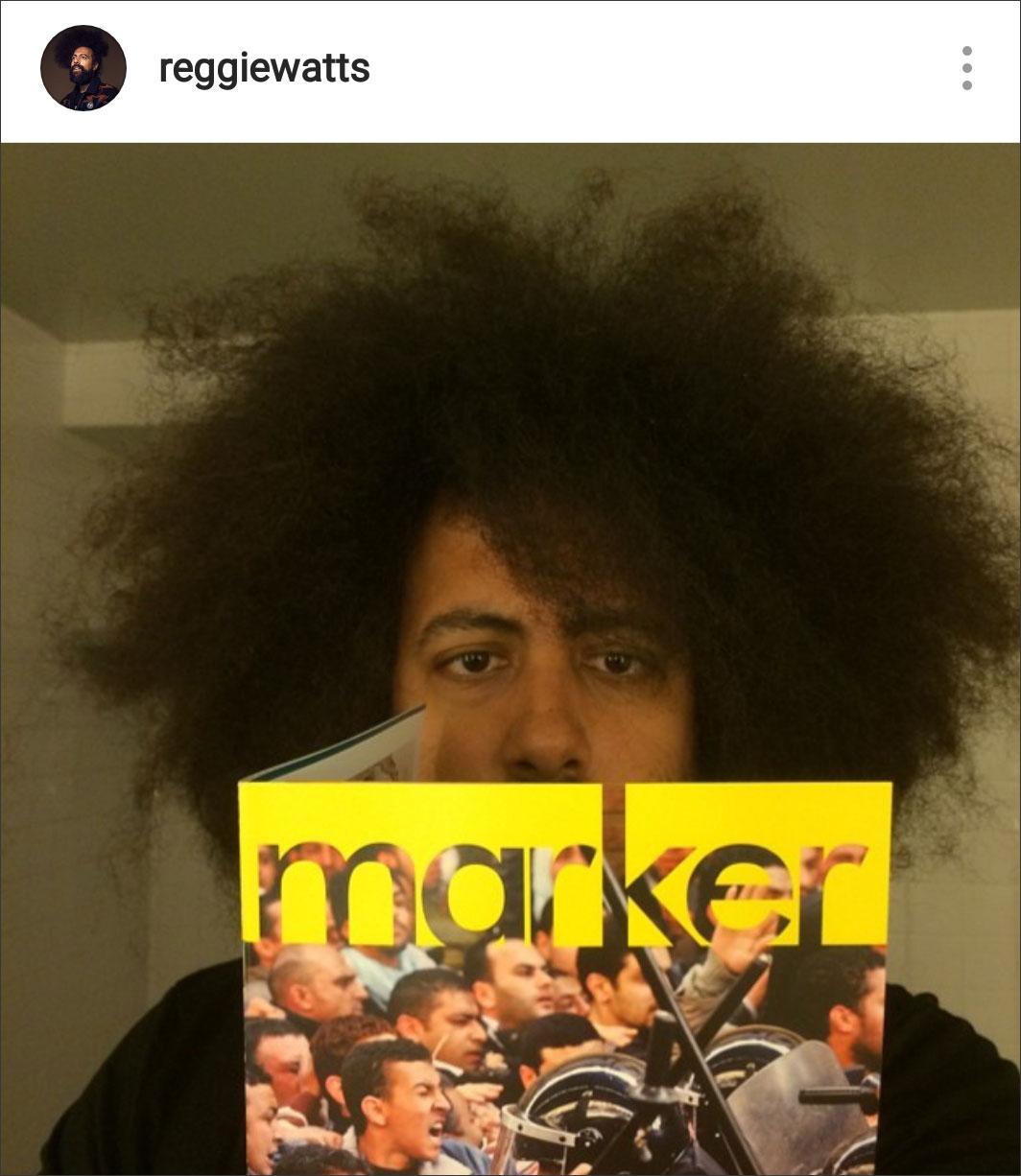 Reggie Watts showing the magazine some love on Instagram. June 2014.