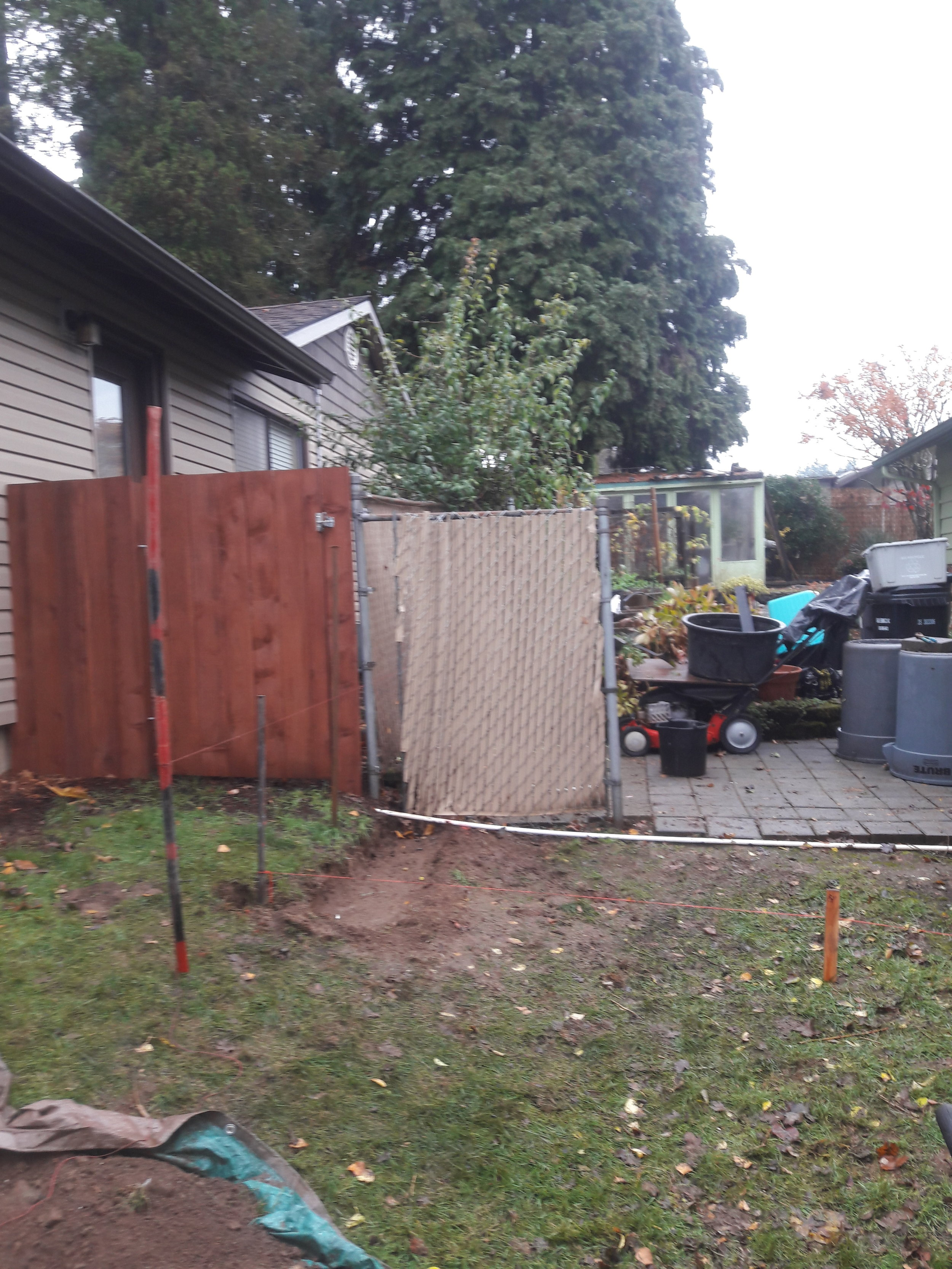 Fence Re-build: Before