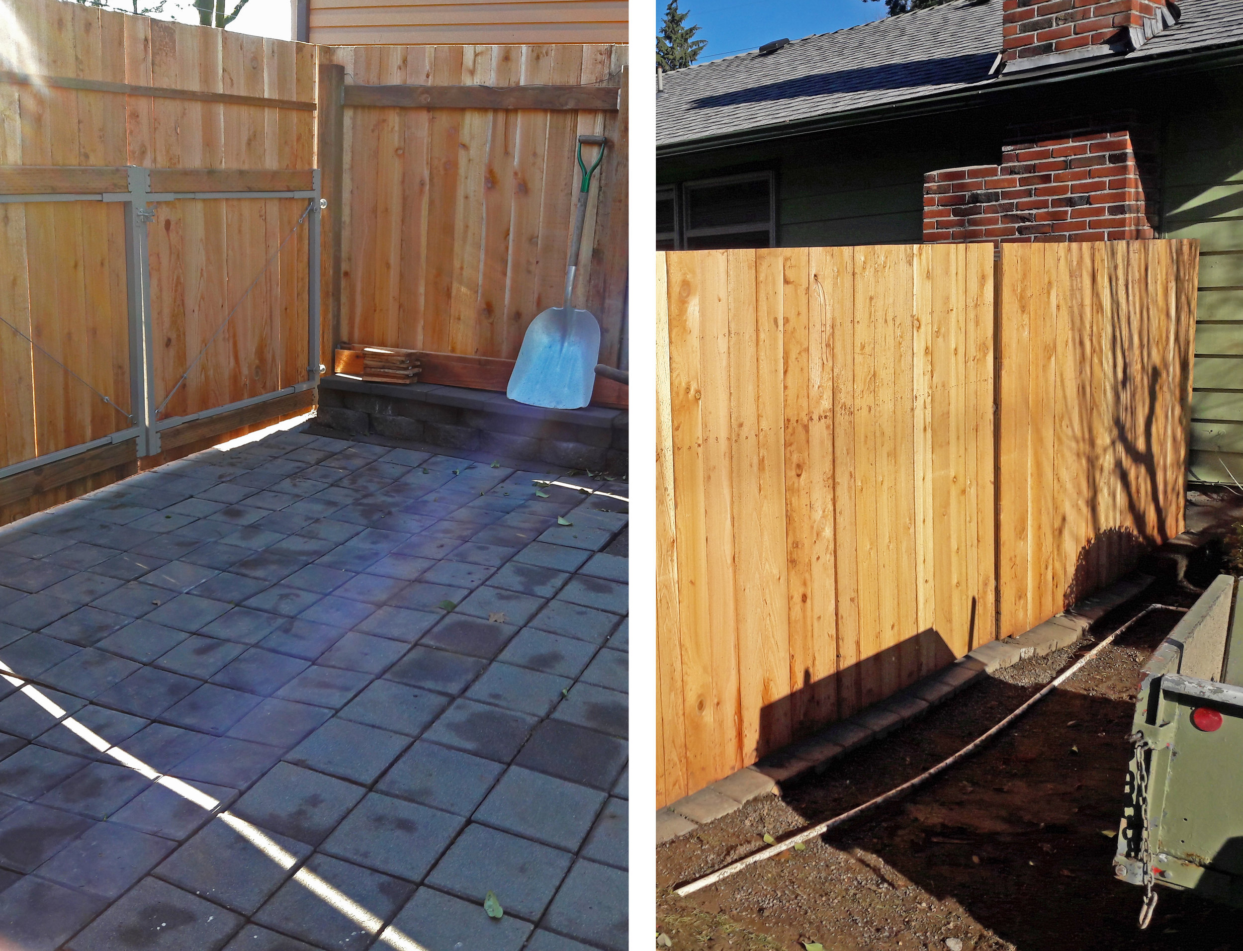 Fence Re-build: After