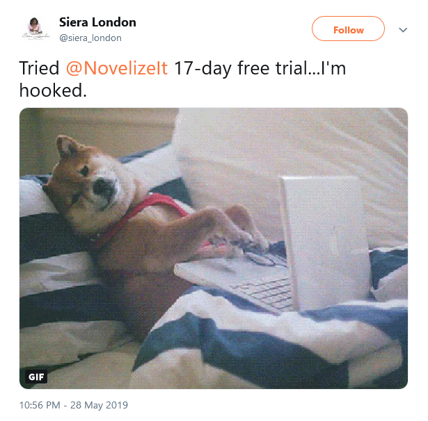 Screenshot_2019-06-07 Siera London on Twitter Tried NovelizeIt 17-day free trial I'm hooked … .png