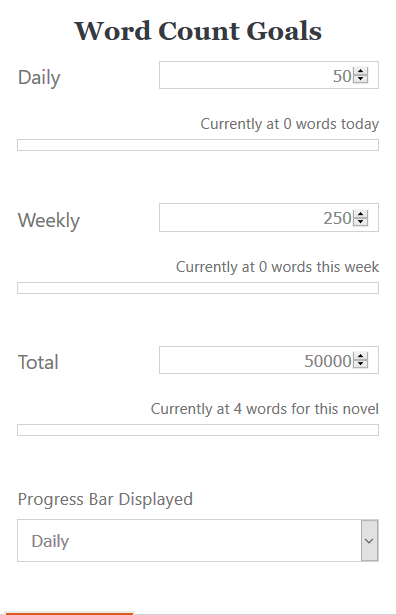 word count goals