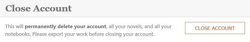 how to close your Novelize account