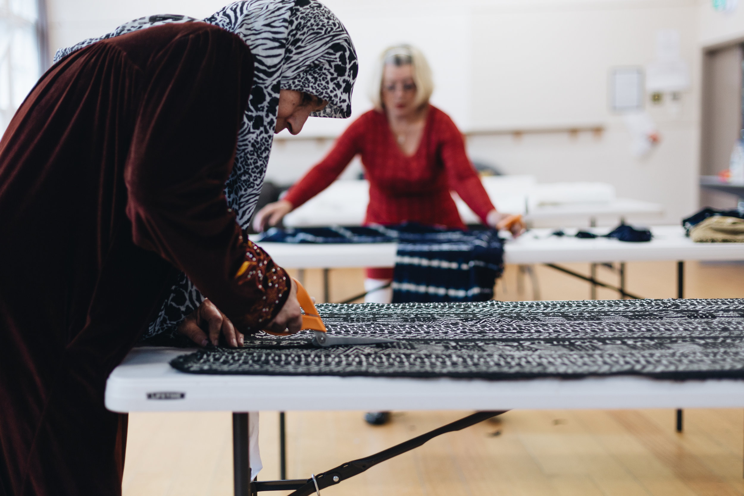 Former refugees making ethical and sustainable luxury cushions