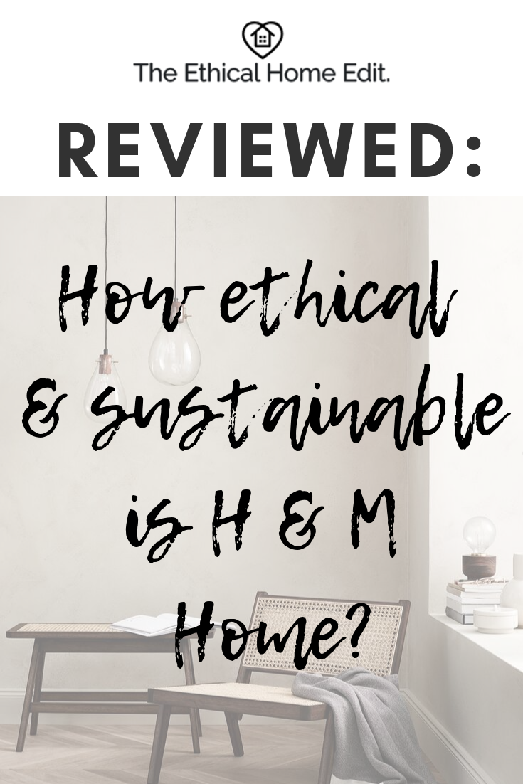 How ethical and sustainable is H&M Home? greenwashing, eco home, sustainable interiors
