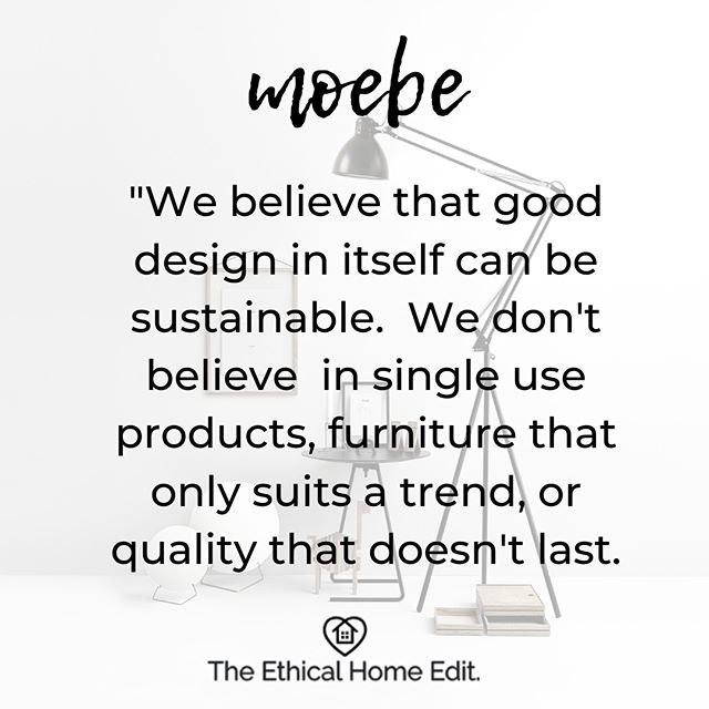 Anyone else get disproportionately excited when they see statements like this? ⠀⠀⠀⠀⠀⠀⠀⠀⠀ .⠀⠀⠀⠀⠀⠀⠀⠀⠀ Moebe's products are designed to be modular, avoiding the need for glues or welds that can have negative environmental consequences. ⠀⠀⠀⠀⠀⠀⠀⠀⠀ .⠀⠀⠀⠀⠀⠀⠀⠀⠀ They design their furniture to be repaired and recycled - no disposable, throwaway attitude here, but a focus on lasting design.⠀⠀⠀⠀⠀⠀⠀⠀⠀ .⠀⠀⠀⠀⠀⠀⠀⠀⠀ They've thought about packaging (cardboard without lamination), shipping (flat-packed to keep CO2 emissions low), and produce 95 percent of their products within the EU in partnership with socially and environmentally responsible producers. ⠀⠀⠀⠀⠀⠀⠀⠀⠀ .⠀⠀⠀⠀⠀⠀⠀⠀⠀ With a gorgeously minimalist range of furniture, lighting and home accessories and international shipping, @Moebecph is a store to add to your address book.⠀⠀⠀⠀⠀⠀⠀⠀⠀ .⠀⠀⠀⠀⠀⠀⠀⠀⠀ . ⠀⠀⠀⠀⠀⠀⠀⠀⠀ #ethicalhomewares #ethicalhomedecor #ethicalhomegoods #ethicalhomeware #ethicalhomes #ethicalinteriors #ethicalinteriordesign #interiorsforslowliving #slowinteriors #slowsustainablehome #brandsforgood #brandsdoinggood #ecohomedecor #ecohomewares #ecohomeinterior #ethicalinfluencers #ethicalinfluencernetwork #sustainablebloggers #sustainableinteriors #goodbrands #greenhomedecor #homegreenhome #ethicalisthenewblack #brandswithpurpose #sustainablehome #sustainablefurniture #sustainabledesign #greenhome #slowliving #danishdesign