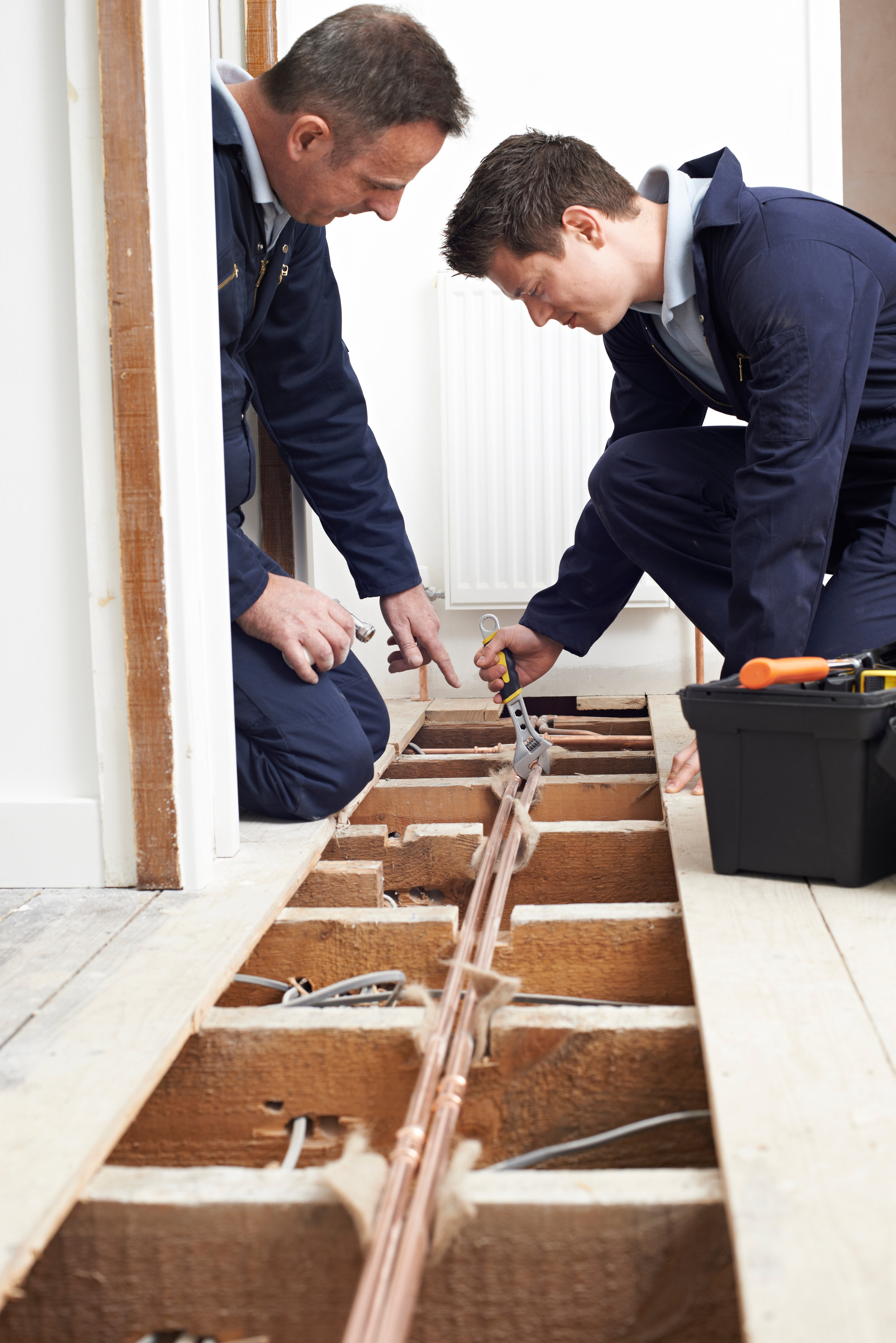 Canva - Plumber And Apprentice Fitting Central Heating in House.jpg