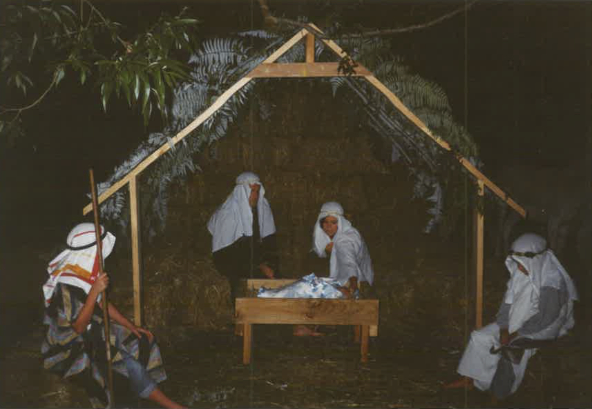 1996 - Our first ever event was held on the banks of the Wairoa River with 150 people, a donkey, and real baby. Originally held on Christmas Eve and known as 'The Night Before Christmas', 1996 was the first ever event celebrating Christmas in New Zealand's own Bethlehem.