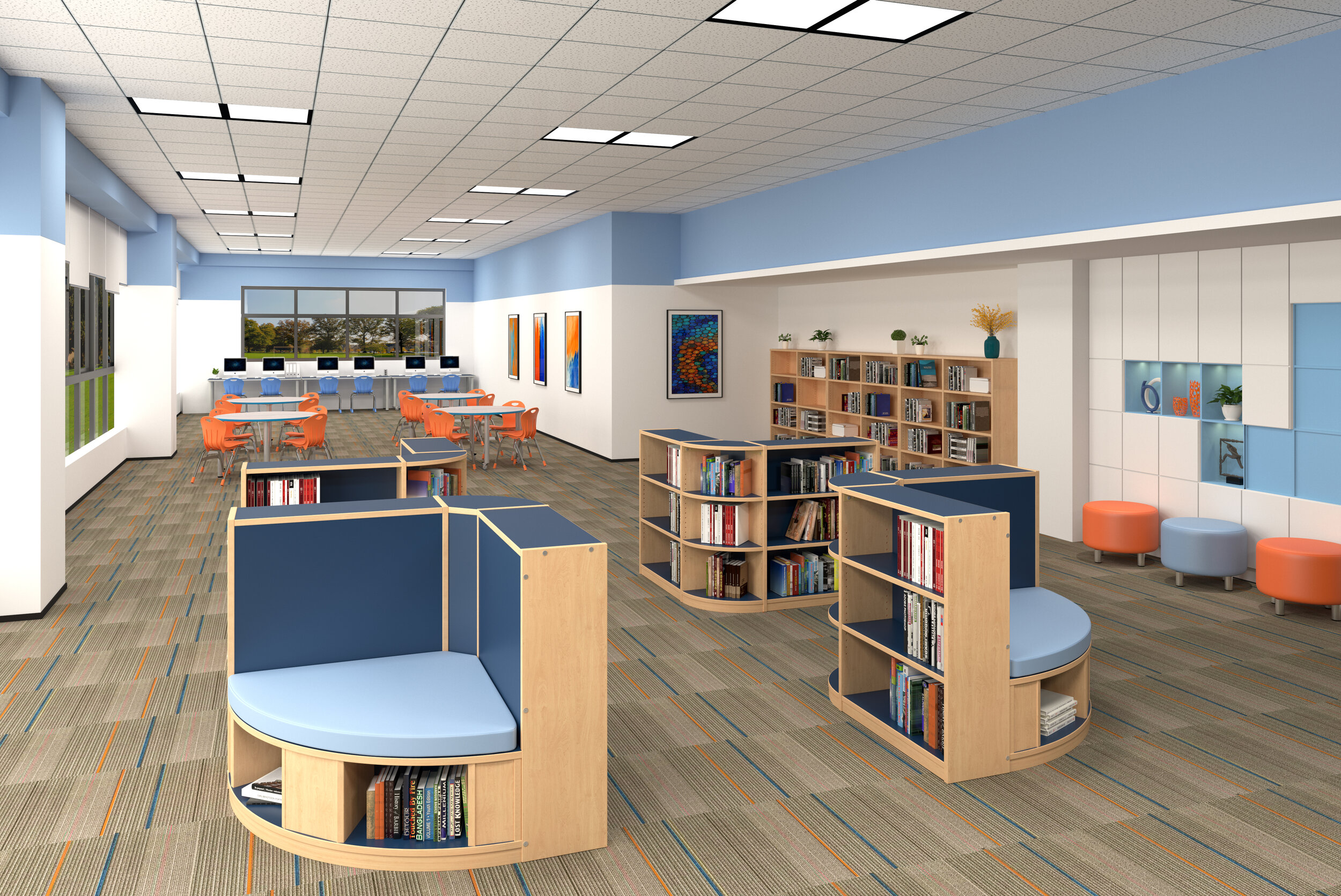 Russwood Library Furniture
