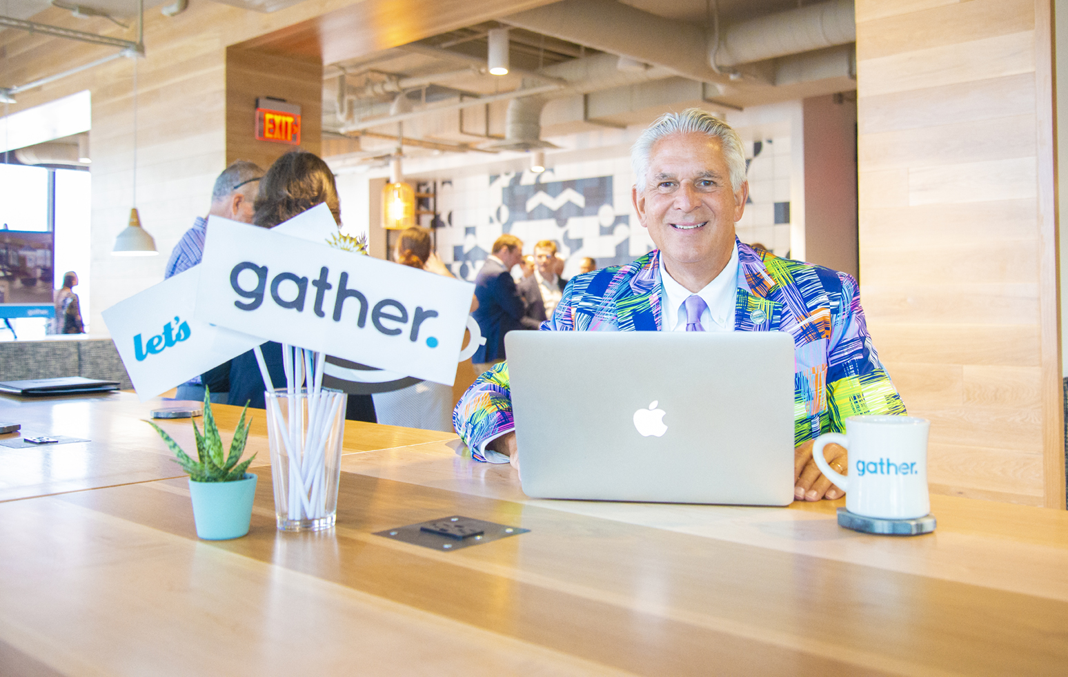 Ken Wayland at Gather Norfolk Grand Opening