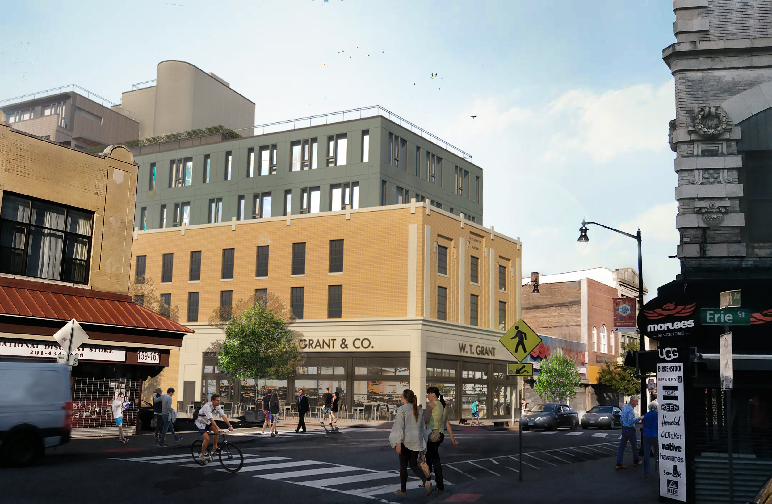 A new mixed-use complex is in the works for 163-165 Newark Avenue, a site that stretches south along Barrow Street from the pedestrian mall to Christopher Columbus Drive.