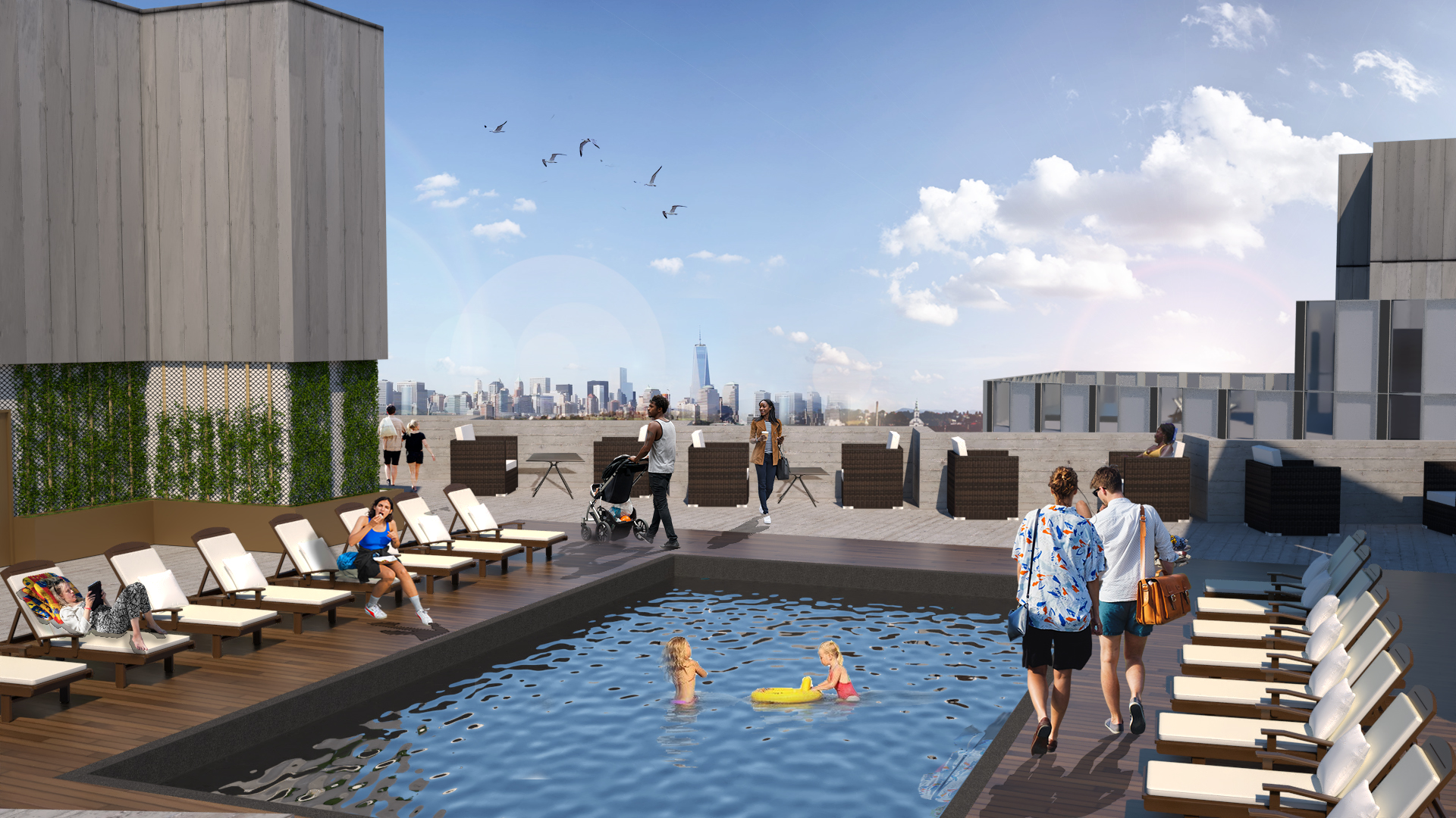 Concept Rooftop Deck for West Tower