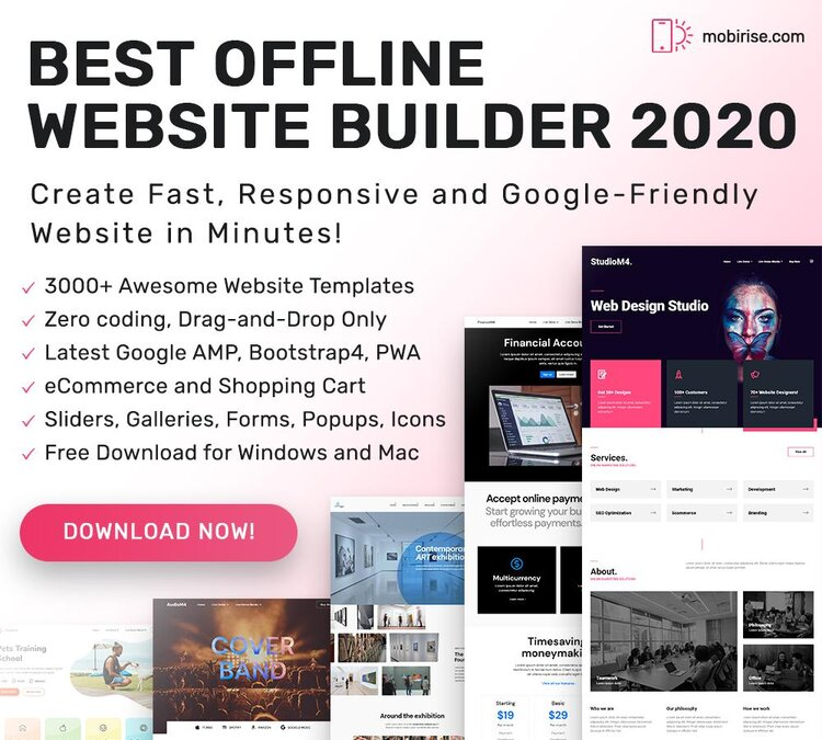 Best Offline Website Builder 2020