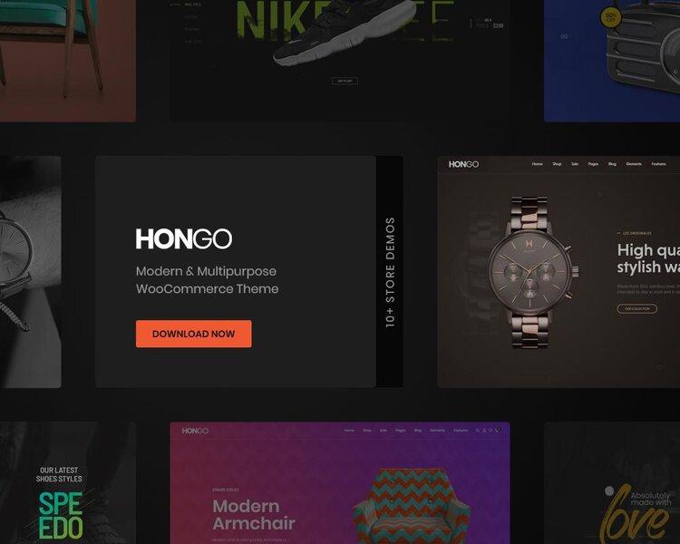 hongo woocommerce wordpress theme