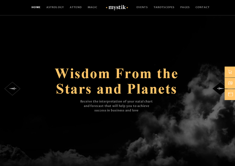 mystik horoscope wordpress theme