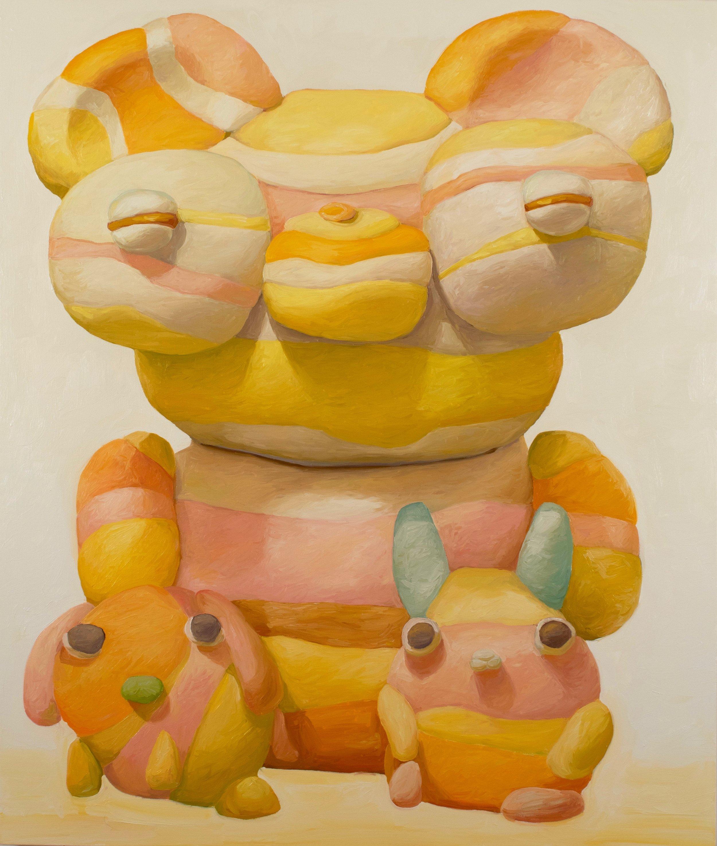 "Peter Opheim, ""Sunday (T.W.L.B.U.)"" 65"" by 55"", oil/canvas, 2019"
