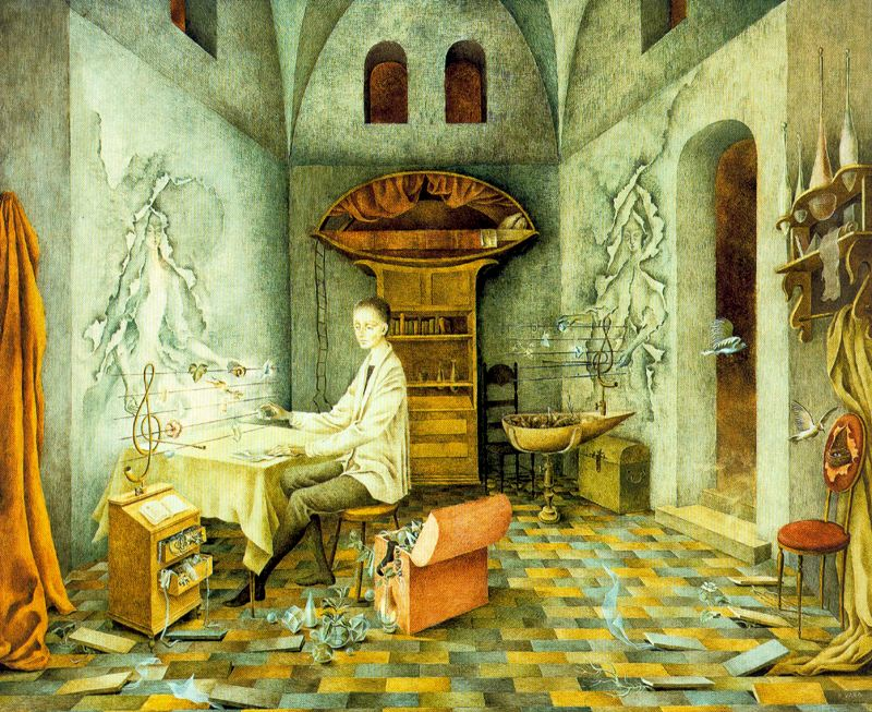 Harmony (1956) by the Mexican painter Remedios Varos (1908 - 1963.)
