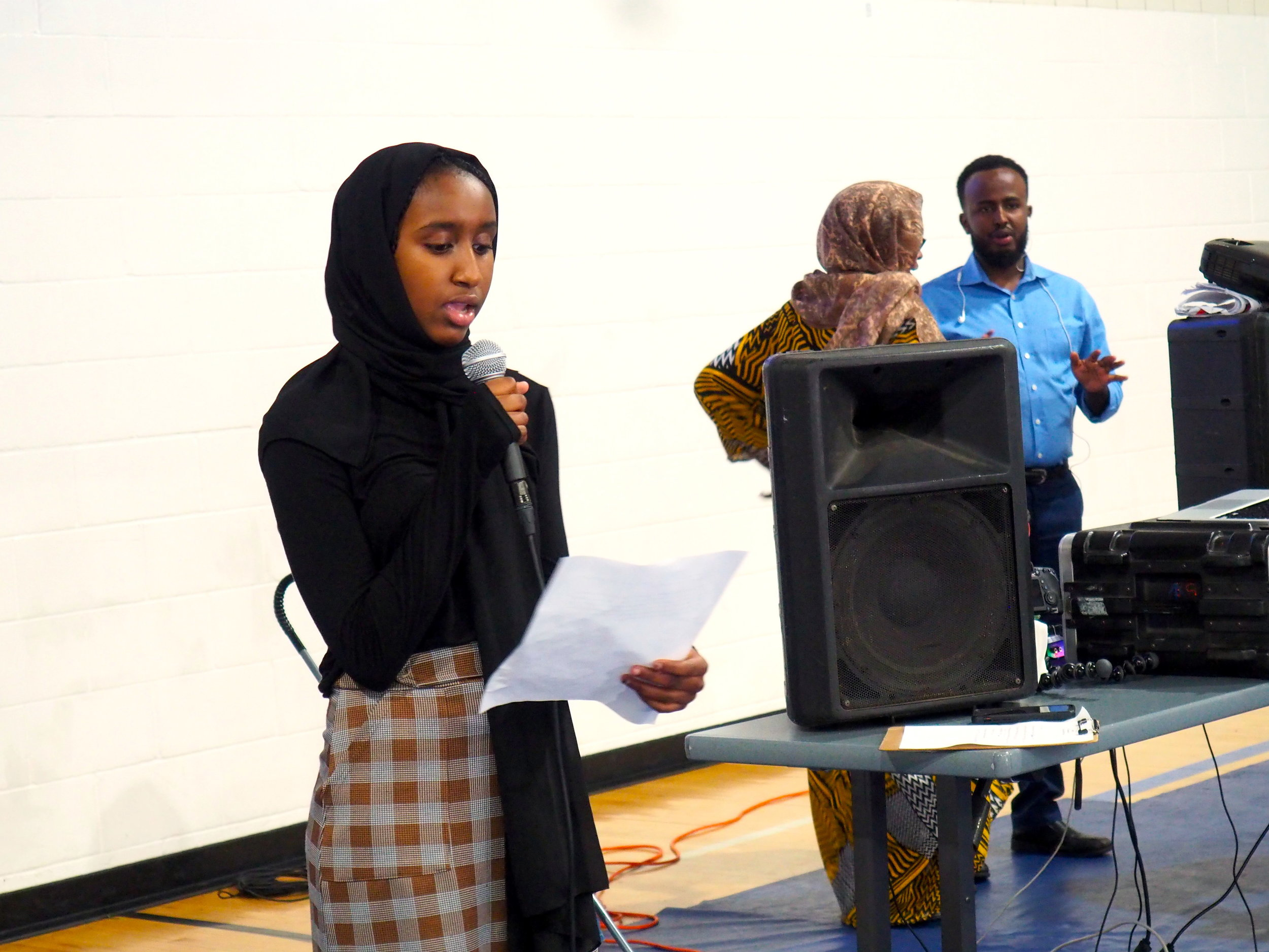 Youth leader makes a speech at the Tobacco-Free social media launch