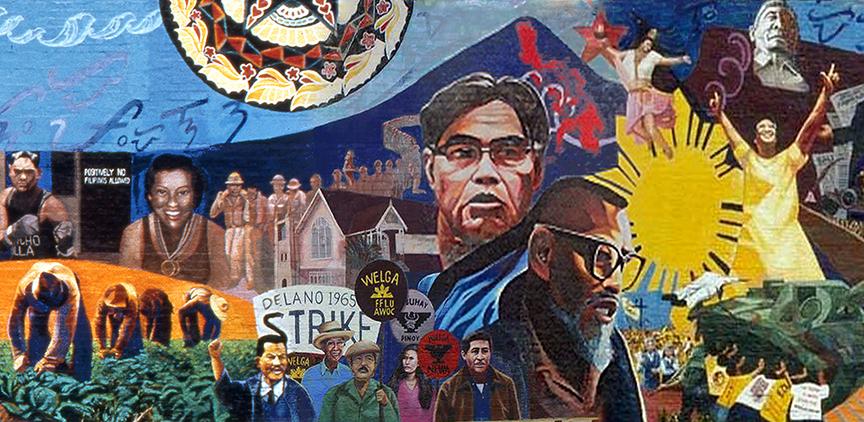 Gintong Kasaysayan, Gintong Pamana  (Filipino Americans: A Glorious History, A Golden Legacy) mural by artist Eliseo Silva is Los Angeles.