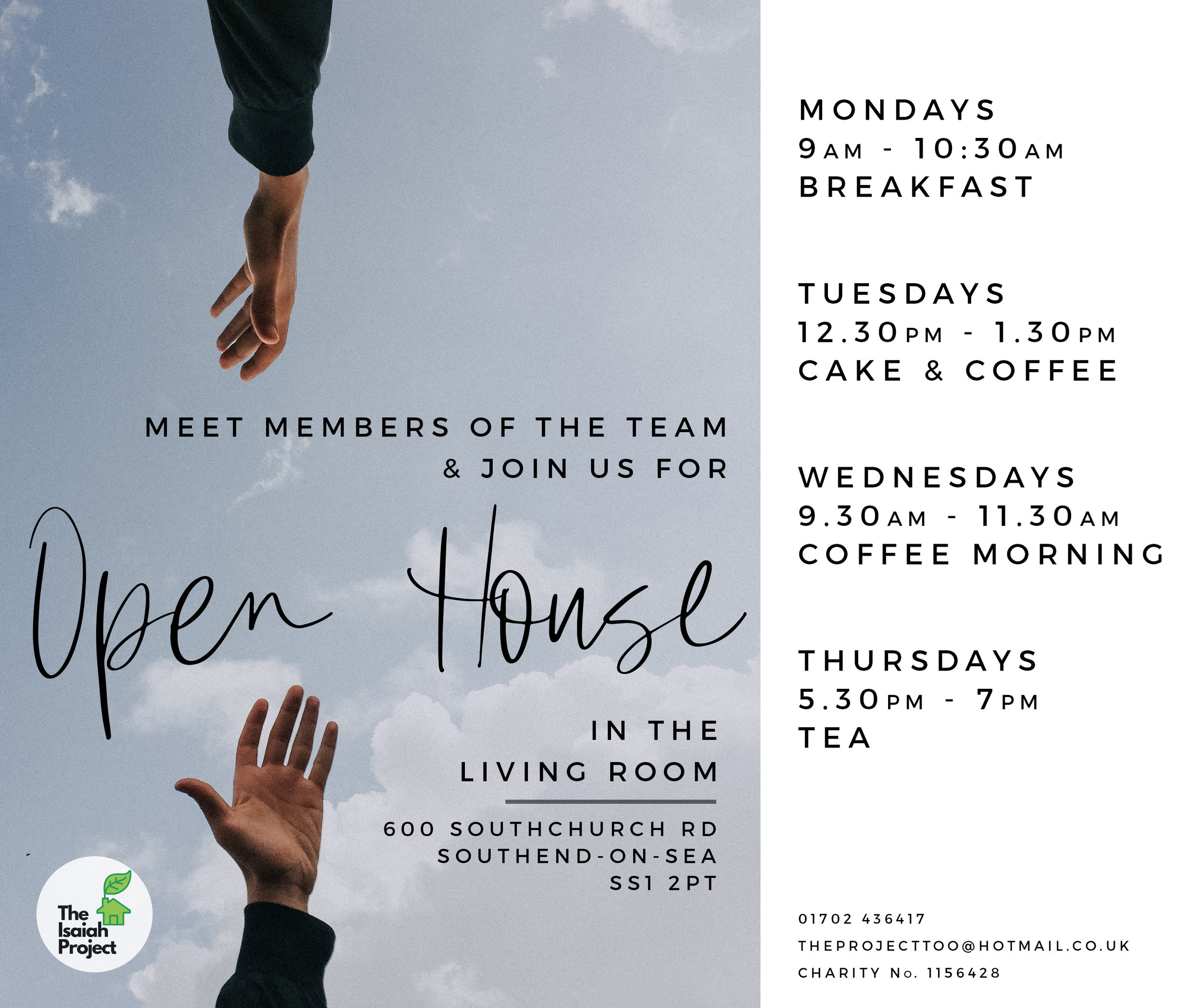 "Join us for ""Open House"" to connect and find out how The Isaiah Project can help you"