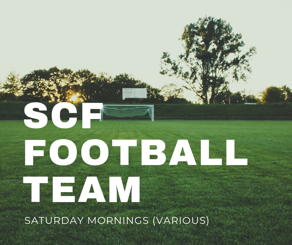 Coordinator: Matt Verrinder   The SCF football team meets most Saturday mornings either for league games in the Southend Churches Football League or for training sessions. The team has a nice blend of SCF-based people and not yet saved friends and offers a great opportunity to build relationships, have fun and ultimately spread God's love through football! Interested?