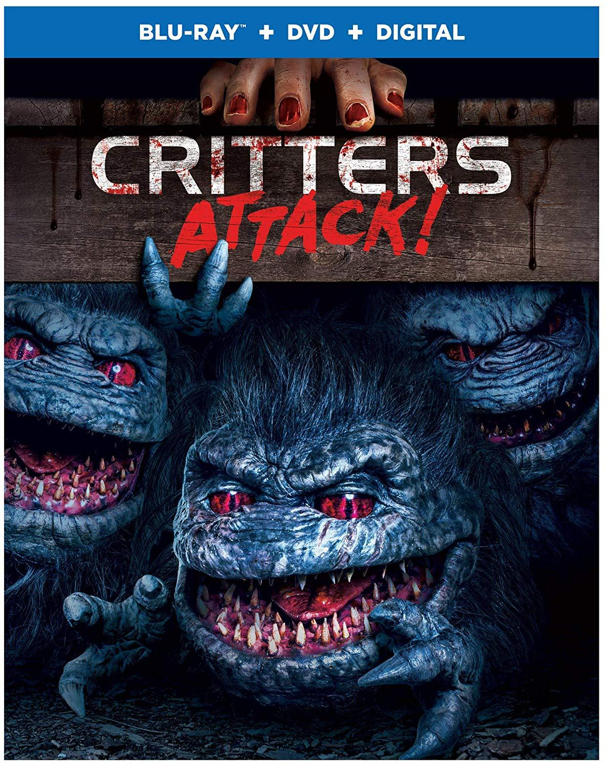 CRITTERS ATTACK! is now available for  pre-order on Amazon !  I would like to point out that there's a special feature that entails me talking to a Critter. And that Critter may also be voiced by me.   SPECIAL FEATURES   Engineering Gore; Designing Critters (featurette)  Critters: An Out-of-this-World Experience (featurette)  The Critter Ball (featurette)  Scene Specific Commentary with Director Bobby Miller and a Critter