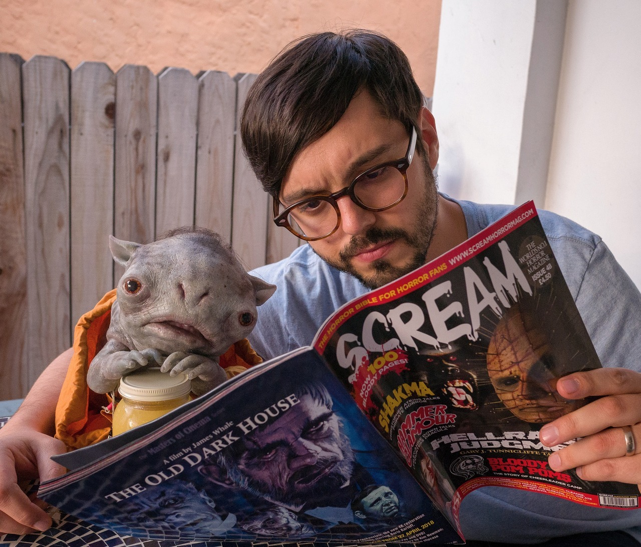 Me and PJ enjoyed reading the write up on   The Cleanse !   Although I had to help him with the bigger words. Scream Magazine is now on sale at Barnes and Noble and Books A Million!