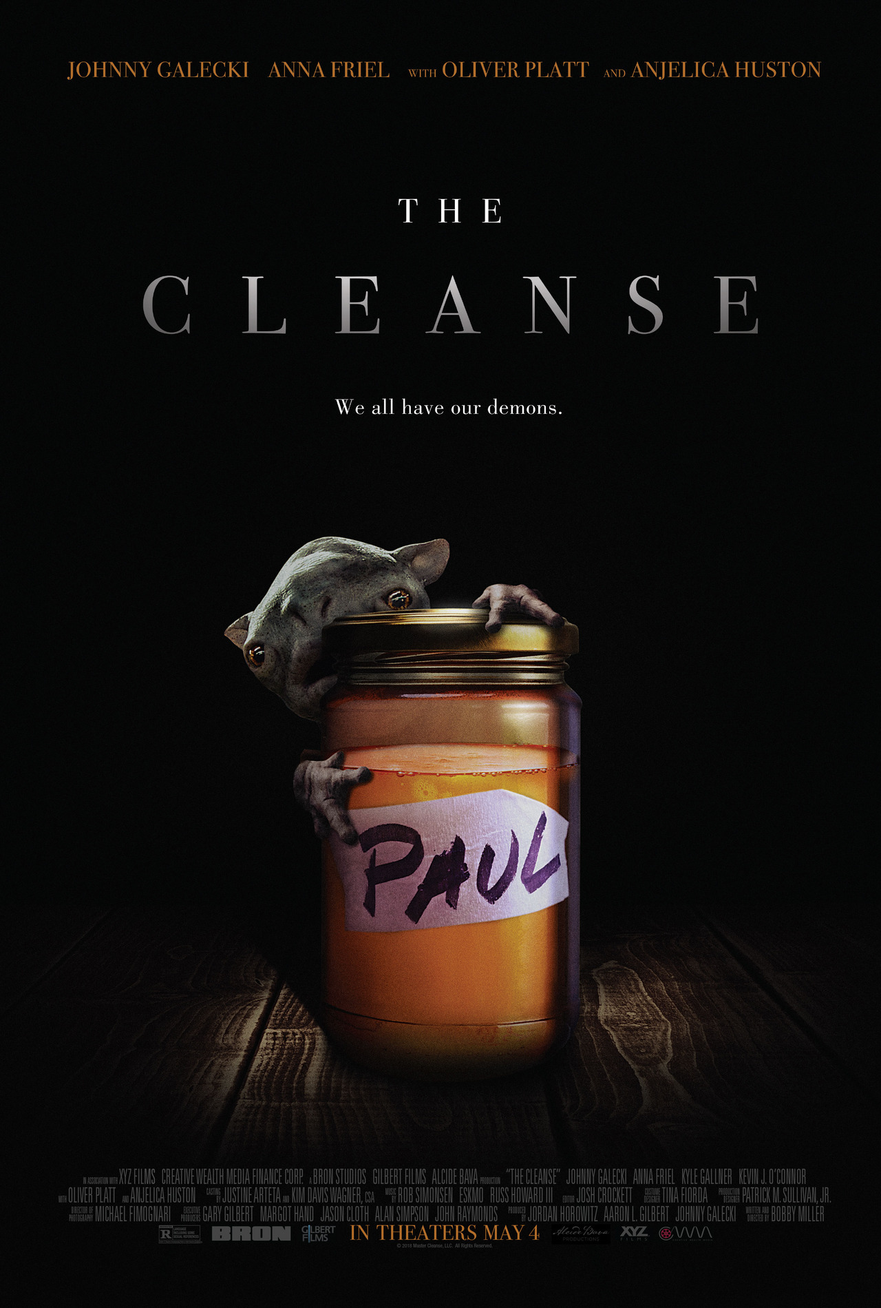 """Here's the poster art for my creature feature debut""""THE CLEANSE"""" coming to theaters & VOD MAY 4th!  You can  check out the trailer here!"""