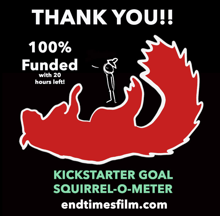 "YOU GUYS DID IT with 20 hours to go! Variety just called this the ""biggest comeback in Kickstarter history!"" Please don't look that up though or try to google it. Just…Trust me, that's what they said. Listen, in all seriousness, THANK YOU to everyone who donated. This means a lot to me.   I wrote more about it here !  THANK YOU!!!"