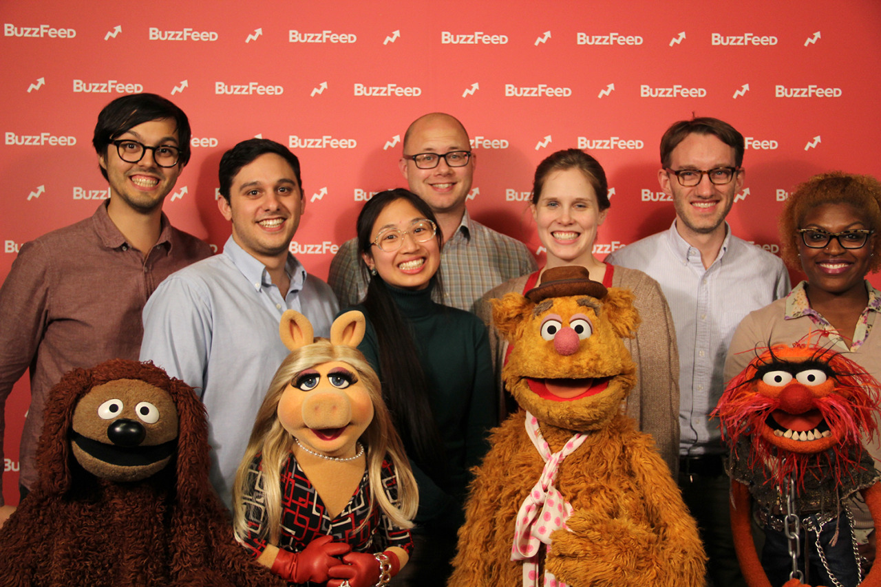 """I got to meet the Muppets during my last week at BuzzFeed. That smile directly above Rowlf is very authentic.    I also got to act in a scene with Animal (!!!). At one point, my co-worker Henry asked how I was doing…""""Oh, y'know…Just living a dream right now."""" Animal then replied: """"Wake up, Bobby! Wake up!""""   One of my life goals is complete."""