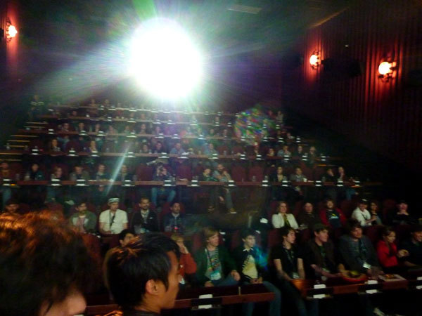 Midnight shorts was completely sold out last night! I had some beer in the theater, so nothing was in focus. WHOOPS!