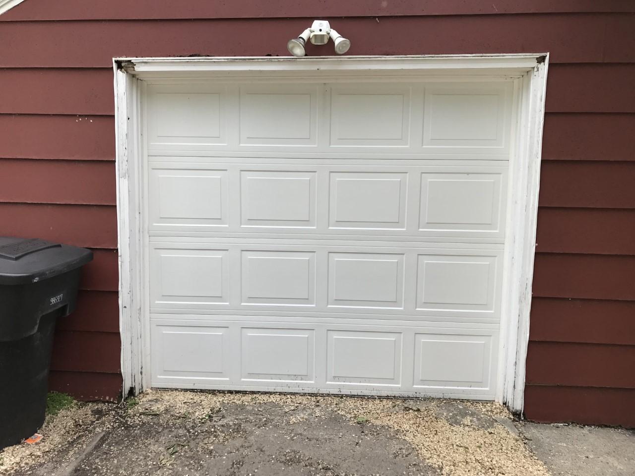 Garage Door Before Trim Update