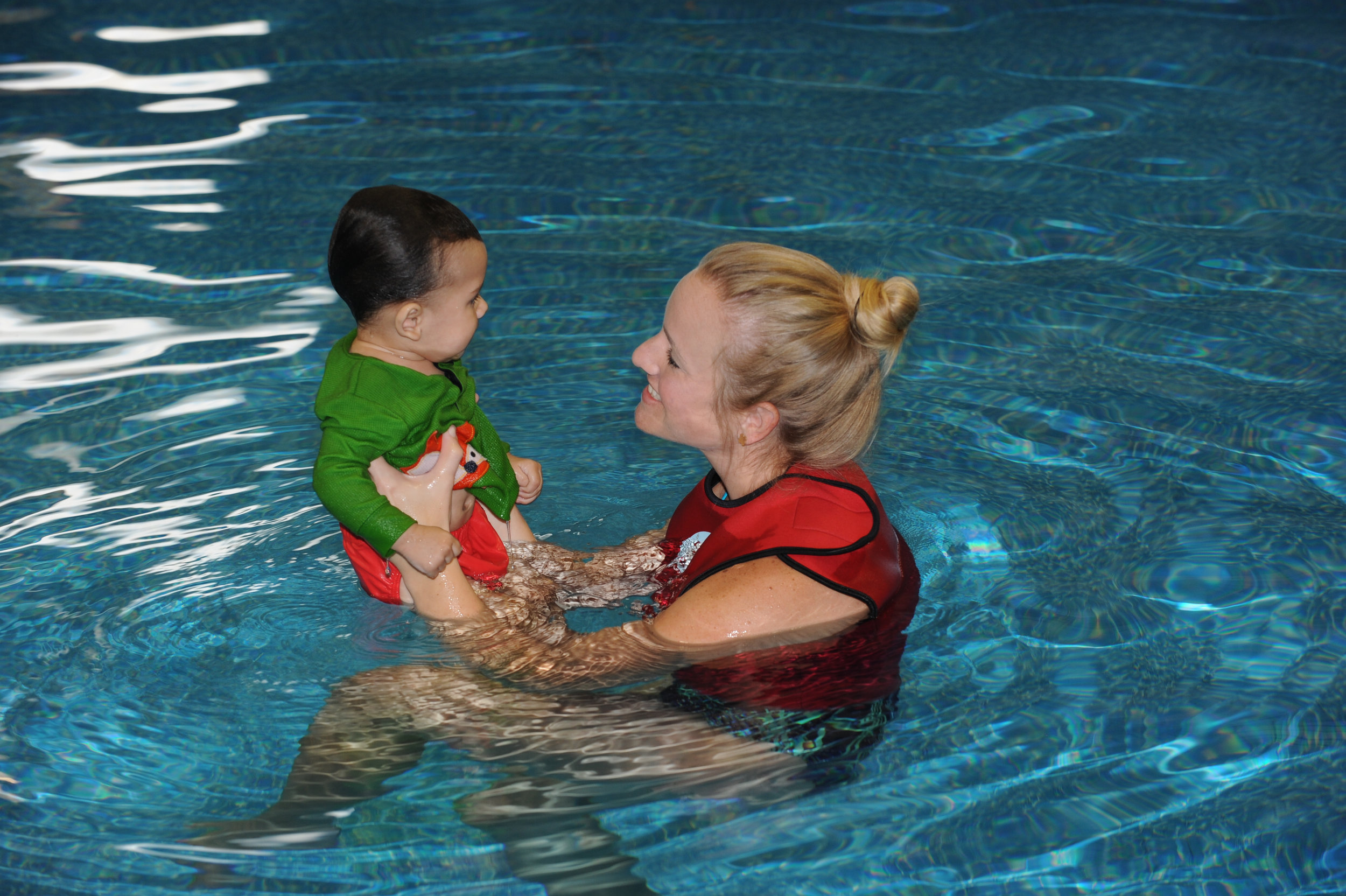 """Mrs. Krissy is amazing! She is so patient with the kids. She taught both my 19 month old and 3 year old how to swim-float-swim. We have peace of mind knowing our kids can swim. She is worth the money!"" - ~ Tina Stevens"
