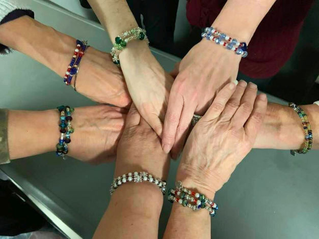 Blue Star Mothers with their military branch bracelets