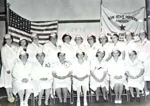 The moms in 1945 with their official uniforms.