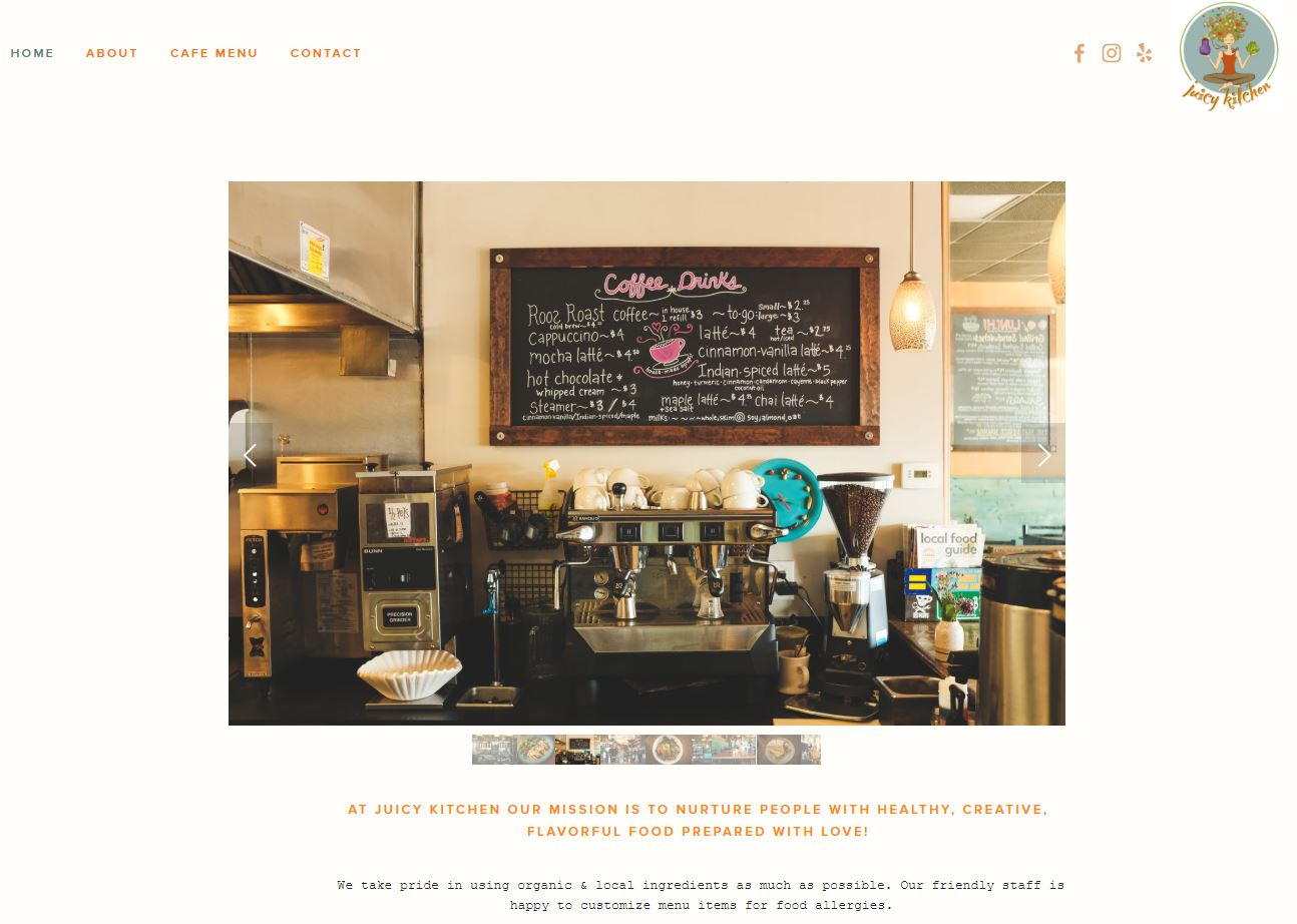 Juicy Kitchen - Website Design and Photography for a local favorite restaurant in Ann Arbor, MI.