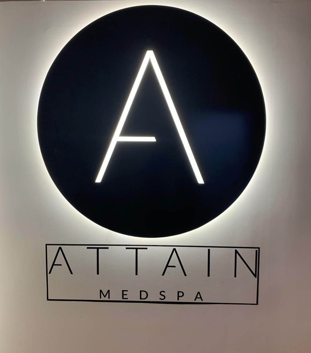 Our Attain logo, come take a selfie with her :)