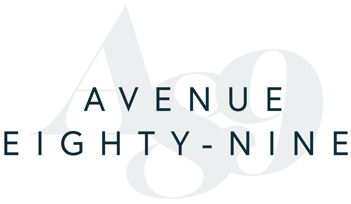 Final Main Logo Design for Avenue 89 Co by Rachel Cottrell of The Bloom Design Company