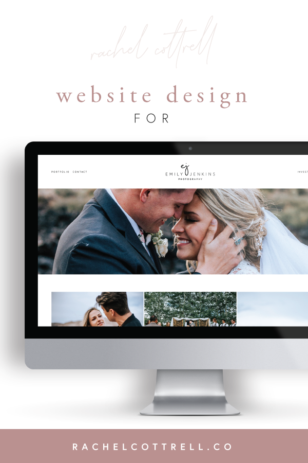 Website design for Emily Jenkins Photography by Rachel Cottrell of The Bloom Design Company | #websitedesign #squarespace #photographerbrand #mobileresponsive #squarespacesite #websitedesigner #weddingphotographer #photogbrand #utahphotographer #creativebusiness #mycreativebiz #womeninbusiness #bossbabe #girlboss