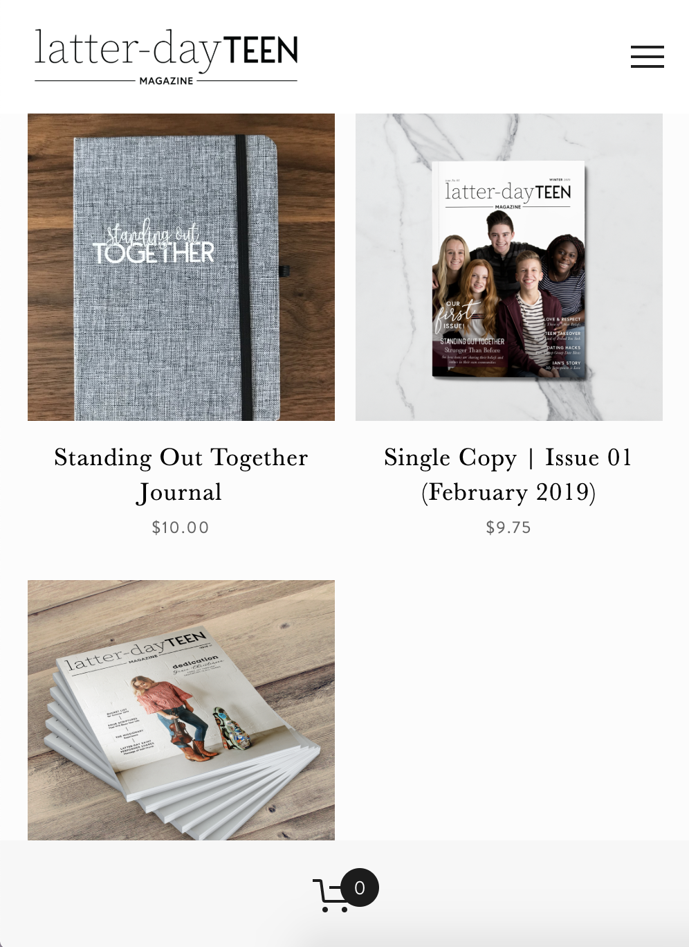 Mobile website design on Squarespace for Latter-day Teen Magazine by Rachel Cottrell of The Bloom Design Company | #graphicdesign #moderndesign #classic #religiousmagazine #christian #lds #squarespace #websitedesign #branddesigner #logodesigner #squarespacedesign