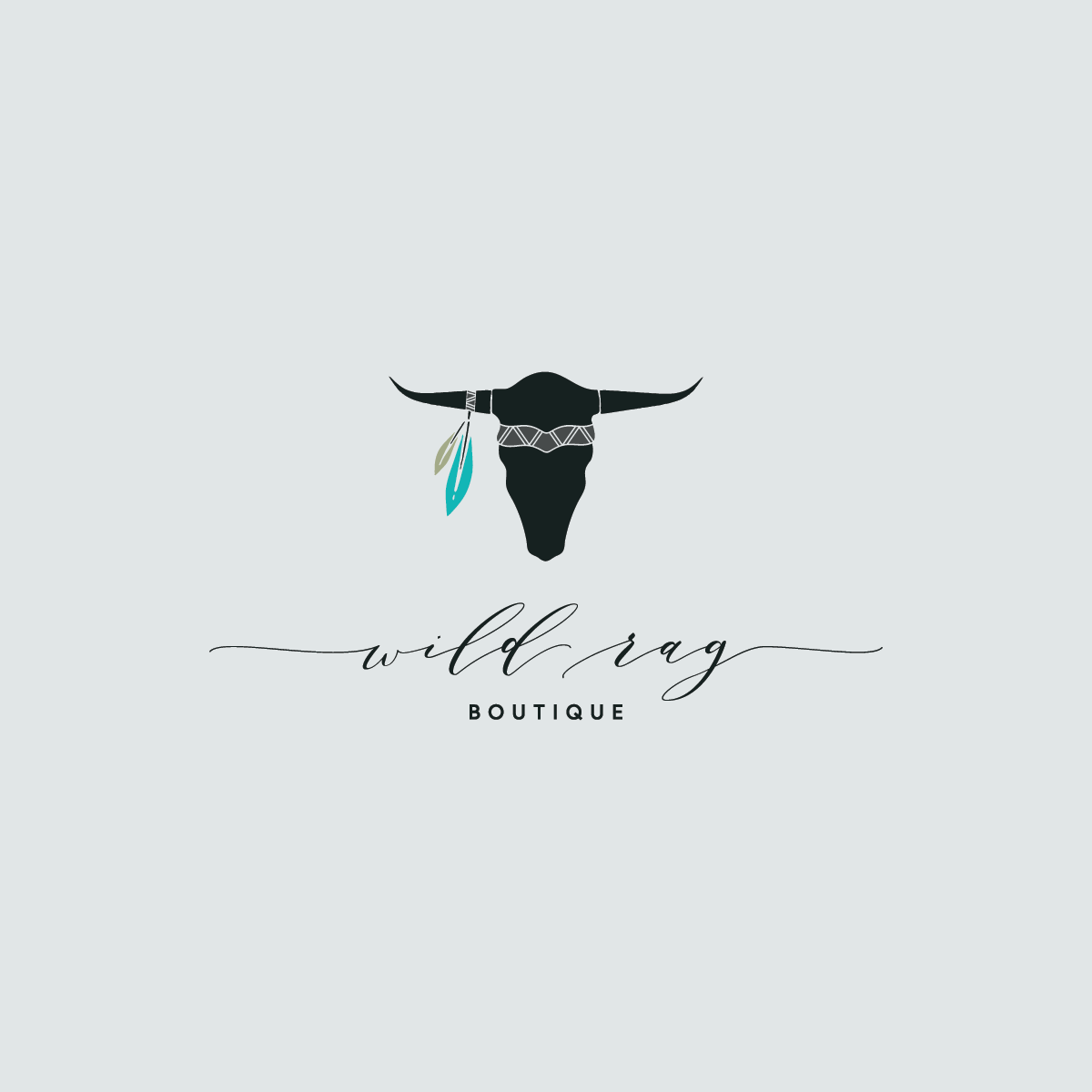 Main logo design for Wild Rag Boutique by Rachel Cottrell of The Bloom Design Company | #graphicdesign #logodesign #branddesign #profilepicture #westernfashion #bohowesternfashion #onlineboutique #fashionboutique #boutiquebranding