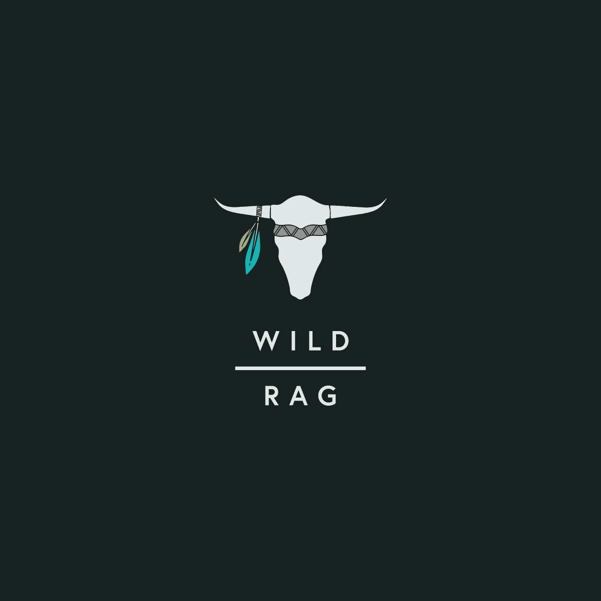 Alternate logo variation for Wild Rag Boutique by Rachel Cottrell of The Bloom Design Company | #graphicdesign #logodesign #branddesign #profilepicture #westernfashion #bohowesternfashion #onlineboutique #fashionboutique #boutiquebranding