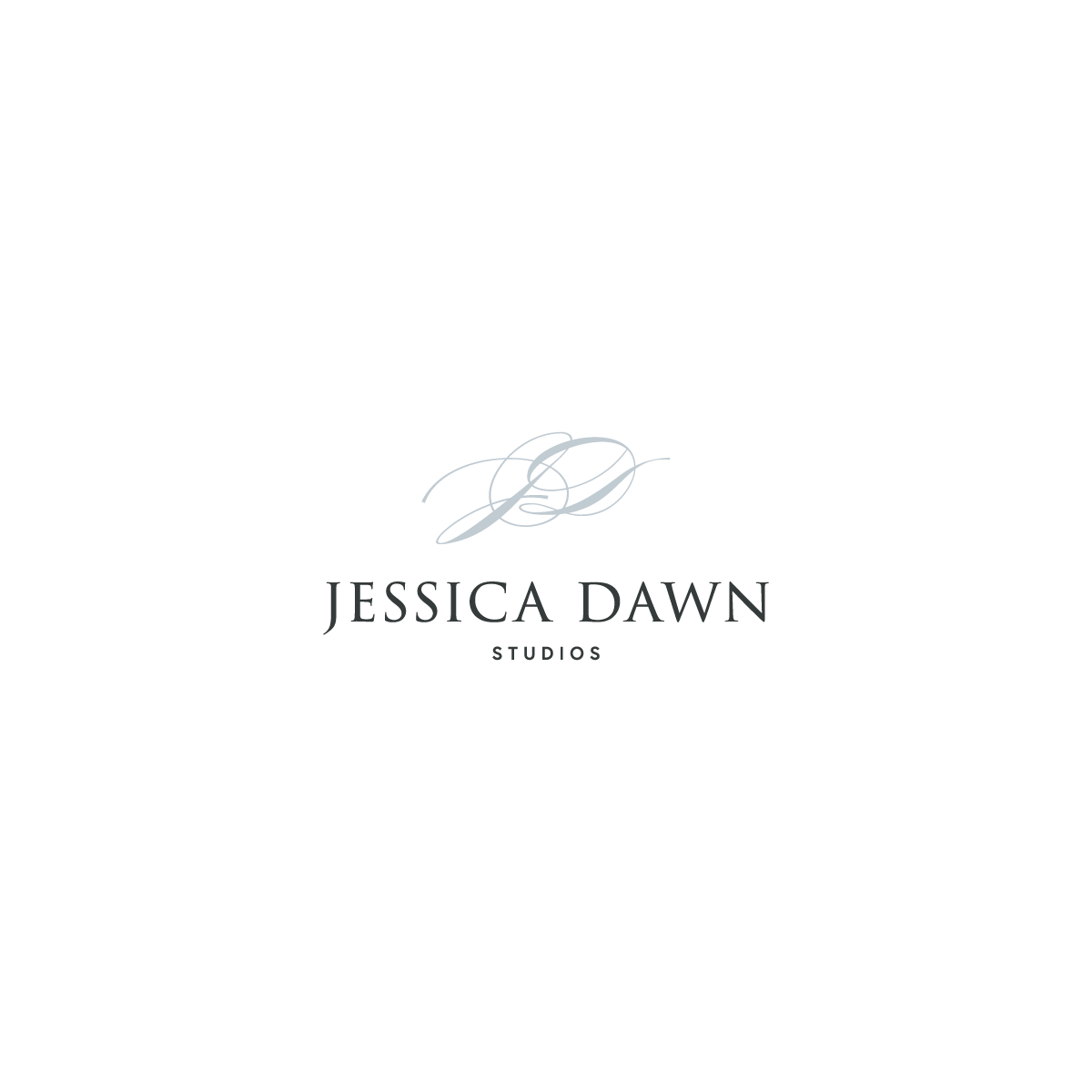 Logo design for Jessica Dawn Studios by Rachel Cottrell of The Bloom Design Company | #graphicdesigner #branddesign #weddingphotographer #romanticweddingphotos #modernbrand #moodboard #photogbranding #branding #familyphotographer #creativebusiness #mycreativebiz #womeninbusiness #bossbabe #girlboss