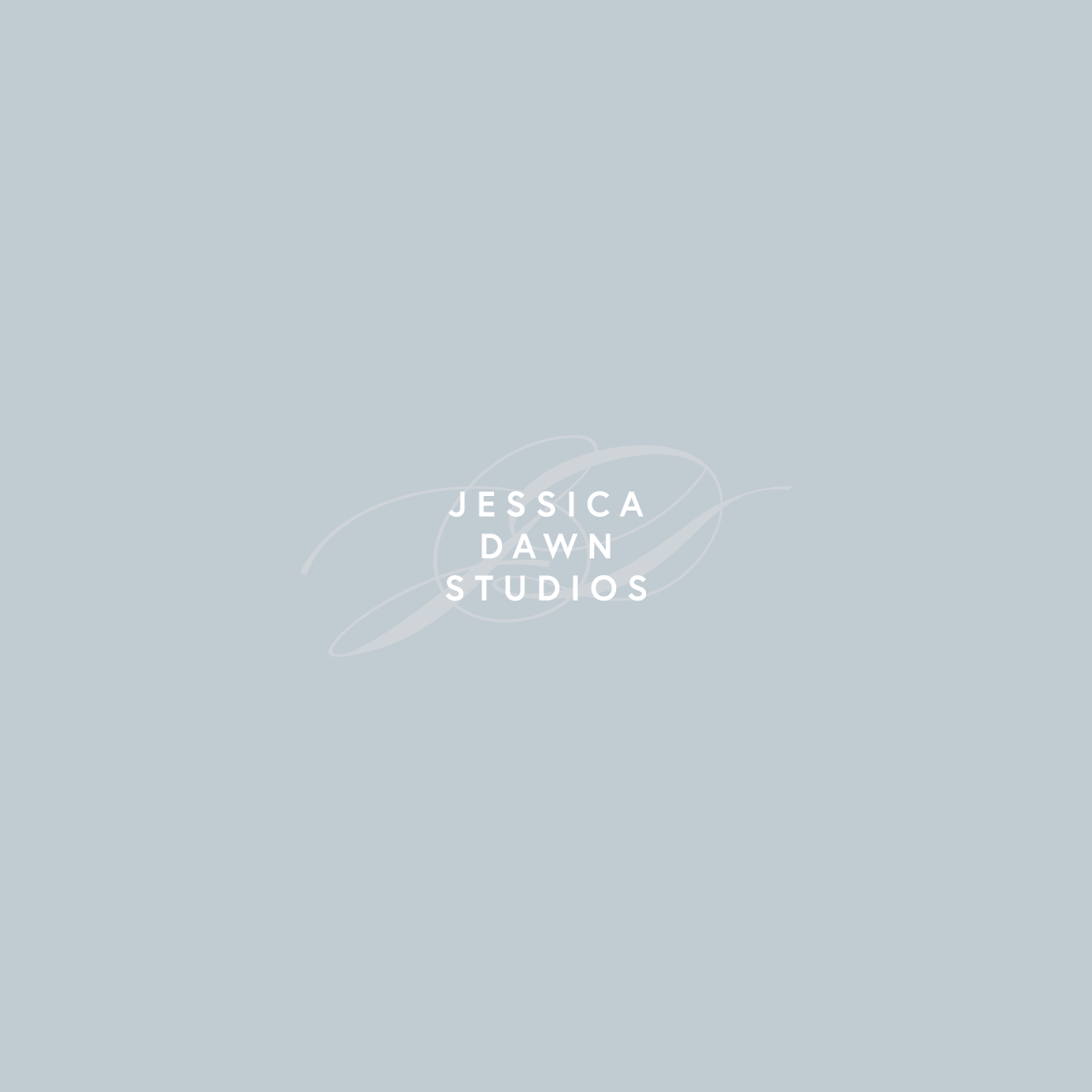 Alternate logo design for Jessica Dawn Studios by Rachel Cottrell | #graphicdesigner #branddesign #weddingphotographer #romanticweddingphotos #modernbrand #moodboard #photogbranding #branding #familyphotographer #creativebusiness #mycreativebiz #womeninbusiness #bossbabe #girlboss