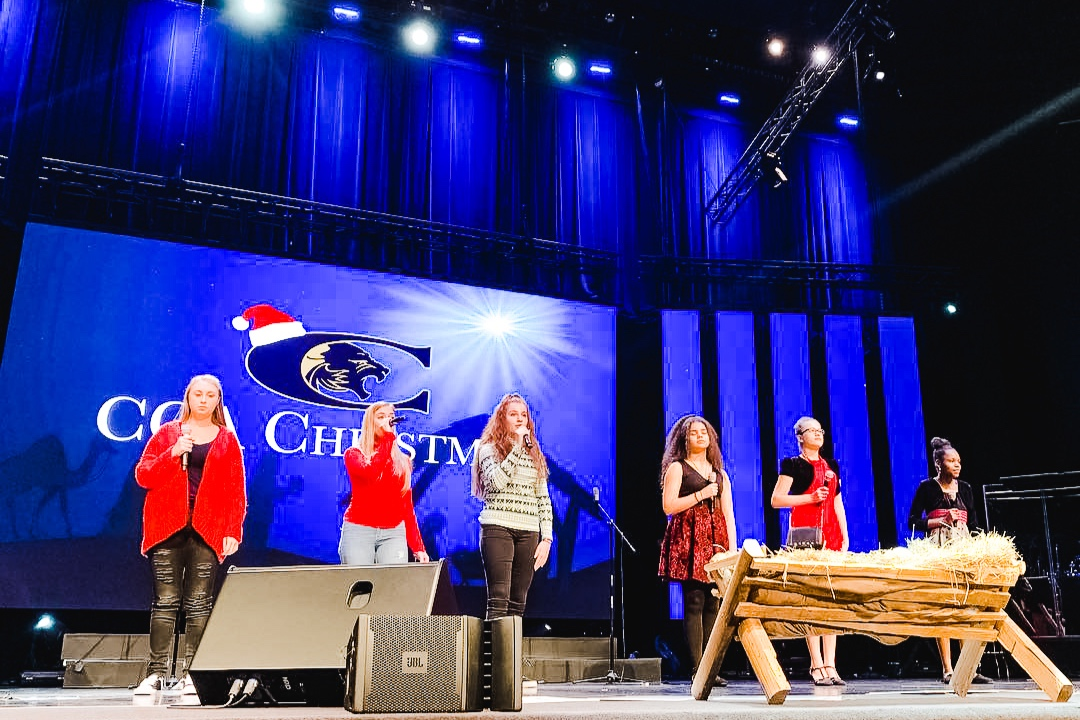 Small Vocal Ensemble Performing at the Christmas Production