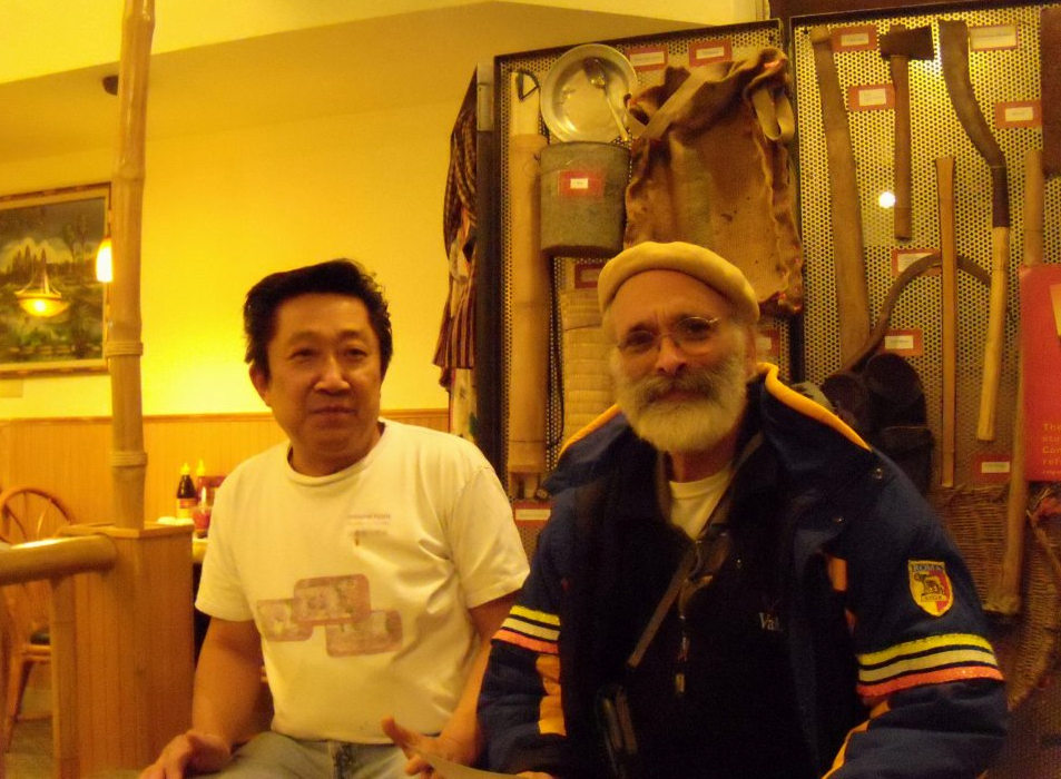 2011, Seattle,Sam Ung, a survivor (of Khmer Rouge) with AKS
