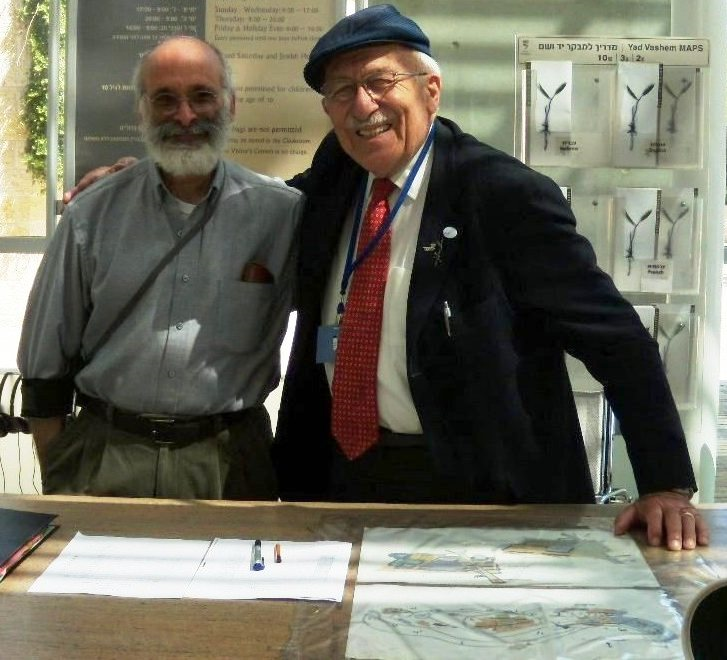 2011, Jerusalem,YadVashem, AKS + Croatian Jewish survivor Yehuda Sterk with AKS (left)