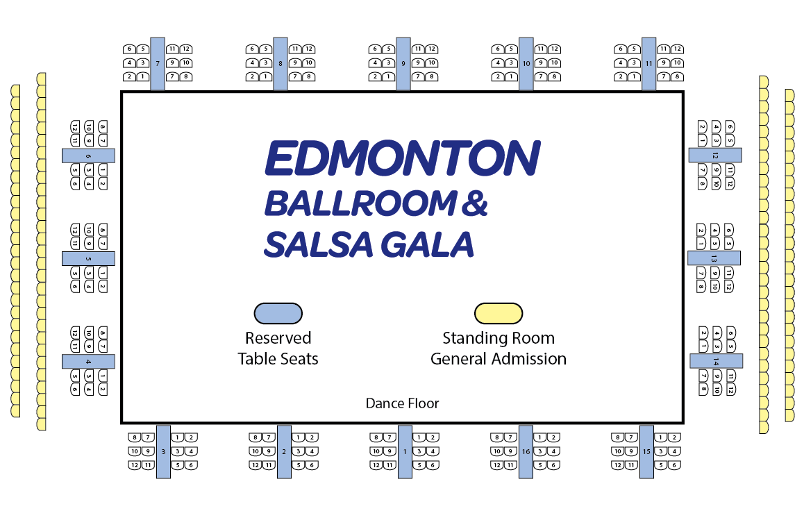 Click to view seating plan. Reserved seating applies only on Saturday Evening. All other sessions are first come, first serve seating, or standing room. Saturday Evening reserved seating applies only to table seats.