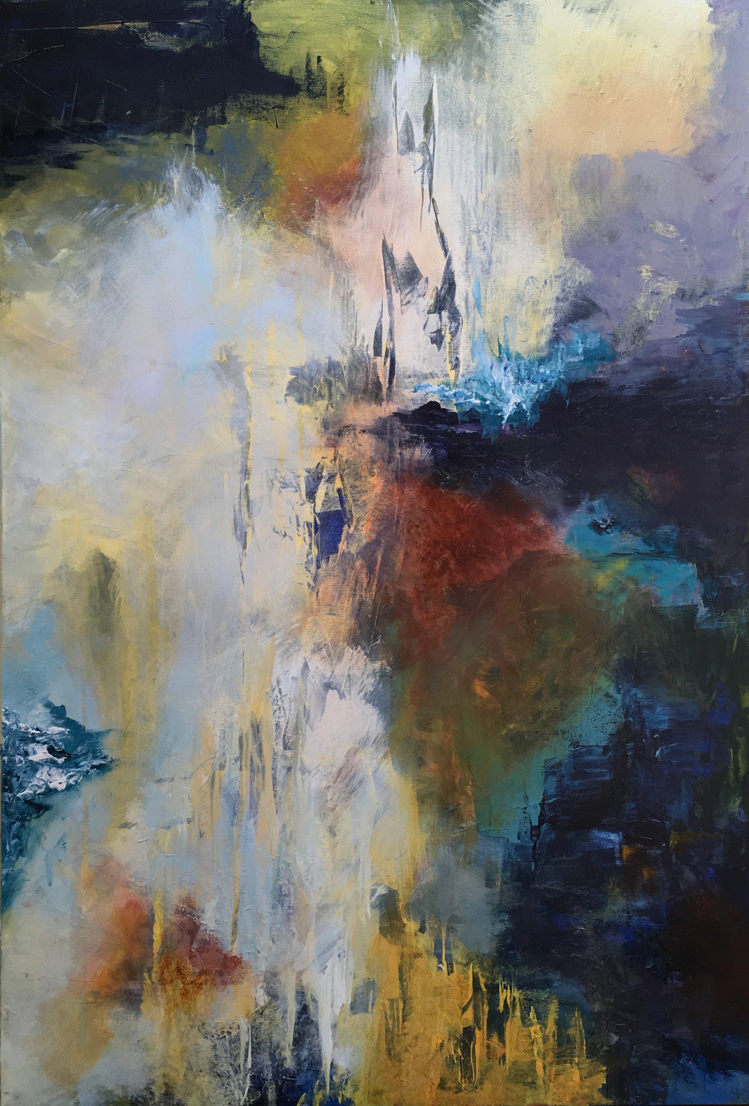 """climb - Acrylic on canvas24"""" x 36"""""""