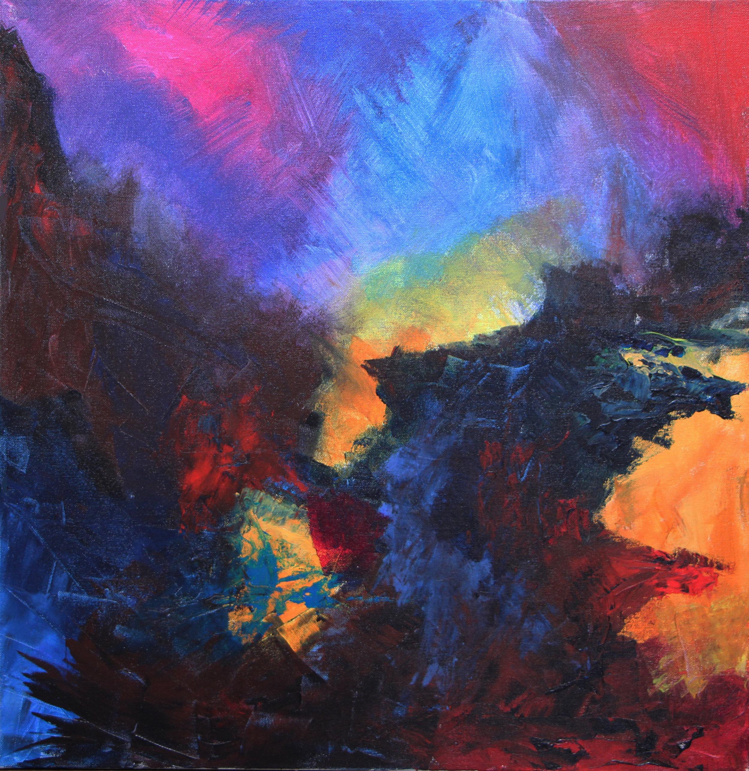 "outcrop 1 - Acrylic on canvas24"" x 24"""
